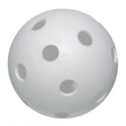 Balle blanche floorball - promoglace