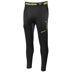 Pantalon Bauer Premium Compression avec coquille - S17 - promoglace hockey