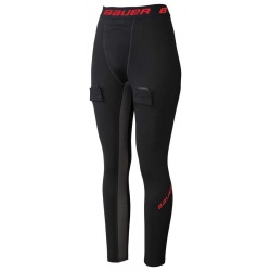 Pantalon Bauer Hockey Essential Compression avec coquille - Promoglace