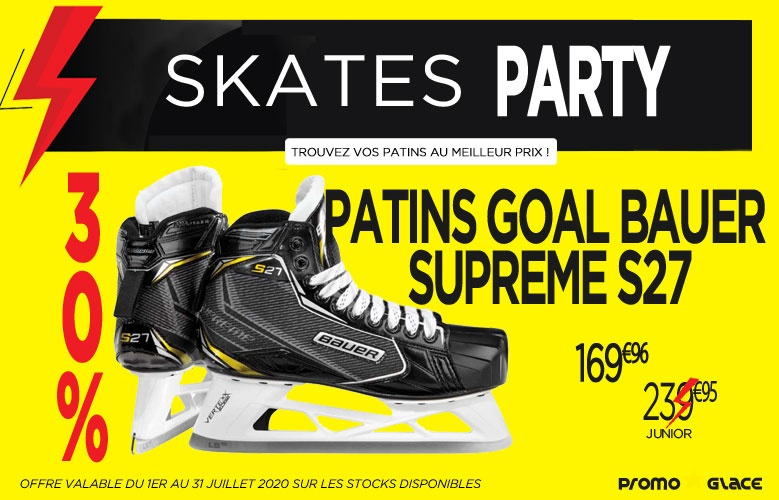 Patins Gardien Bauer Supreme S27 Skates Party - Promoglace goalie