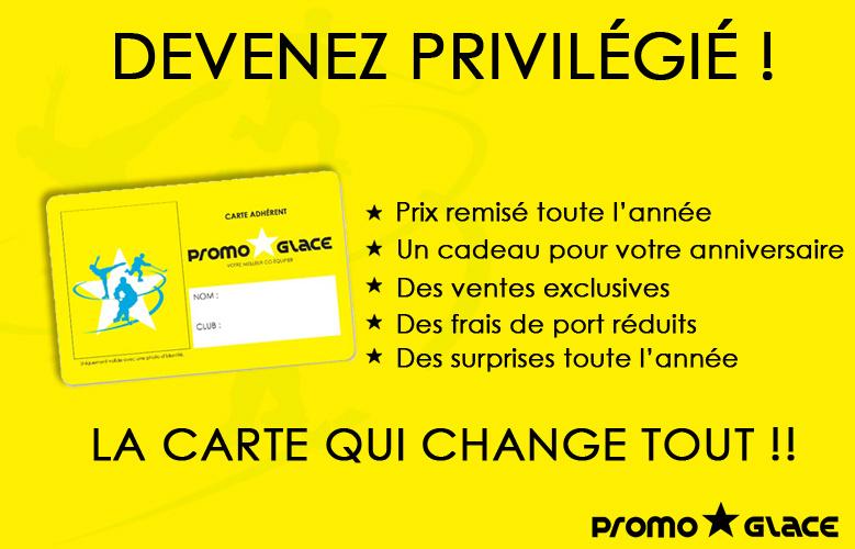 Carte Adhérent Promoglace Privilège
