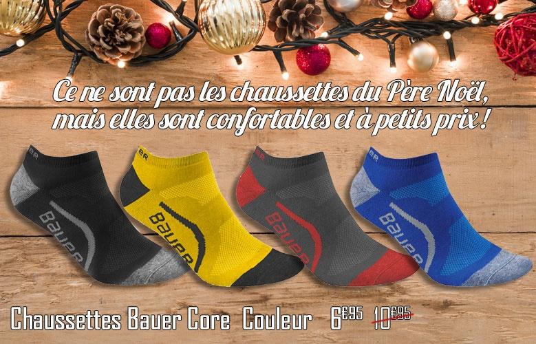Chaussettes Bauer Core Couleur Basse - Promoglace goalie